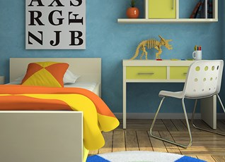 Brighten up the kids' bedroom and let their imagination fly