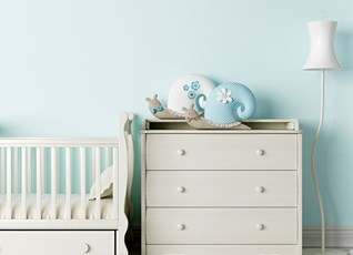 Soothing shades of blue will give you sweet dreams at night