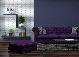 Lift up your spirits with a touch of purple in your living room