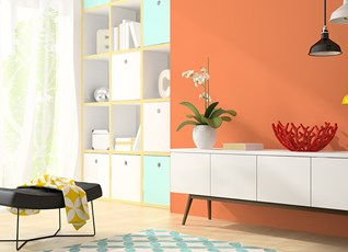 Bring the room to life with a vibrant wall