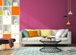 Make the colours pop and brighten your room with a vibrant shade